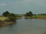 『小貝川の蛇行河川地形』の画像